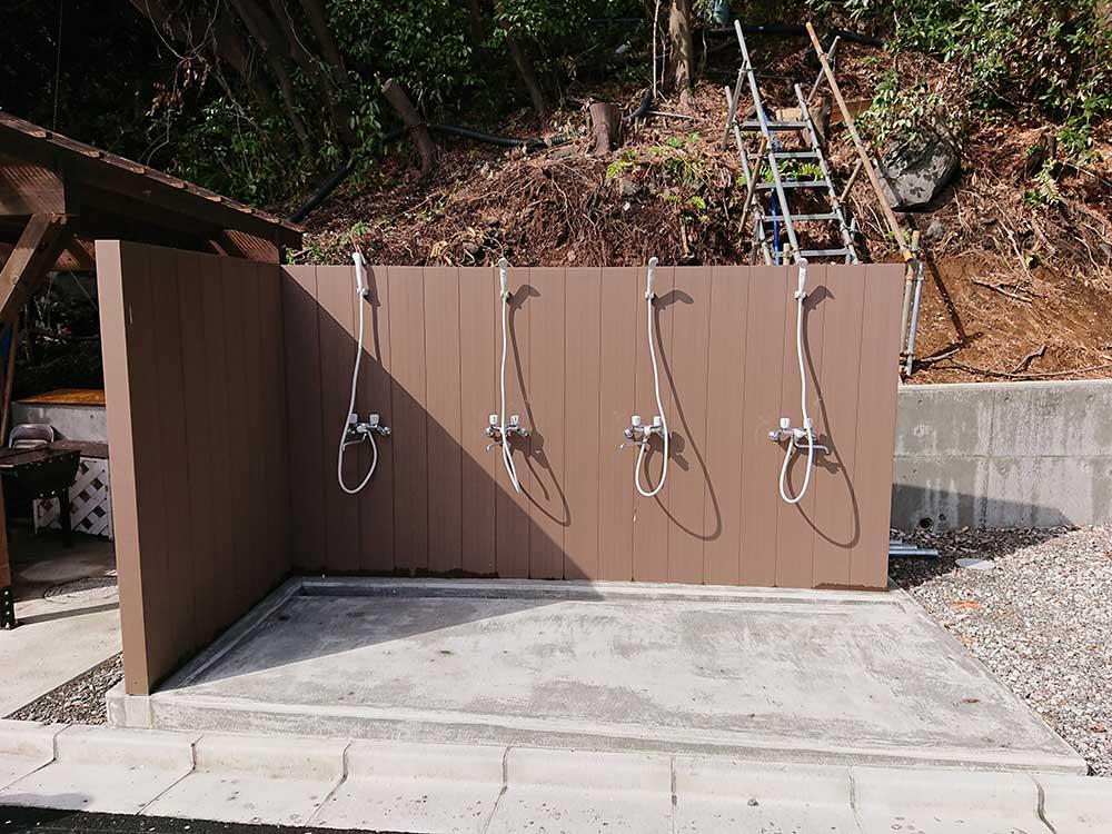 新しくできた富戸のシャワー